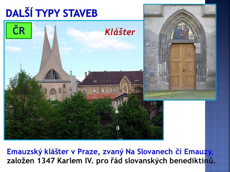 Emauzský klášter v Praze, zvaný Na Slovanech či Emauzy, založen 1347 Karlem IV. pro řád slovanských benediktinů. Klášter ČR