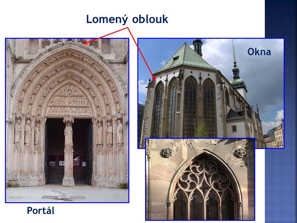 Portál Okna Lomený oblouk