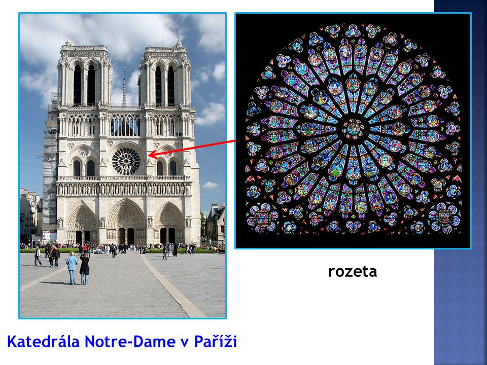Katedrála Notre-Dame v Paříži rozeta