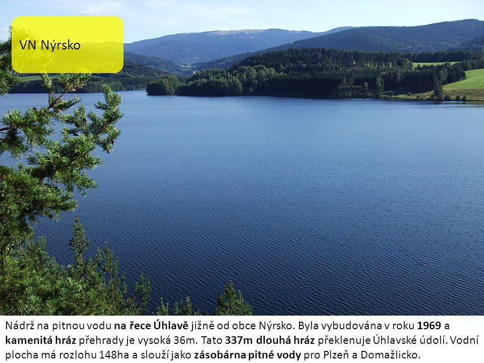 VN Hracholusky Hracholusky je přehradní nádrž o rozloze 490 ha, nacházející se na hranicích okresů Tachov a Plzeň sever.