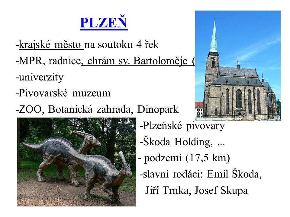 PLZEŇ -krajské město na soutoku 4 řek -MPR, radnice, chrám sv.