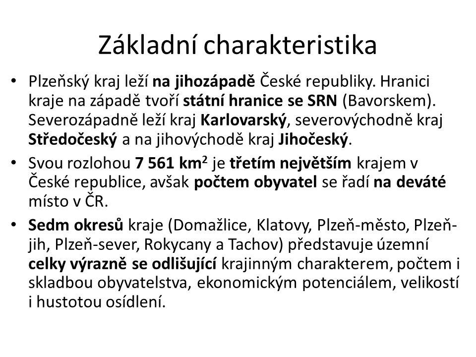 Základní charakteristika Plzeňský kraj leží na jihozápadě České republiky.