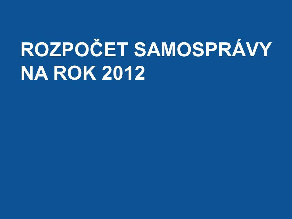 ROZPOČET SAMOSPRÁVY NA ROK 2012