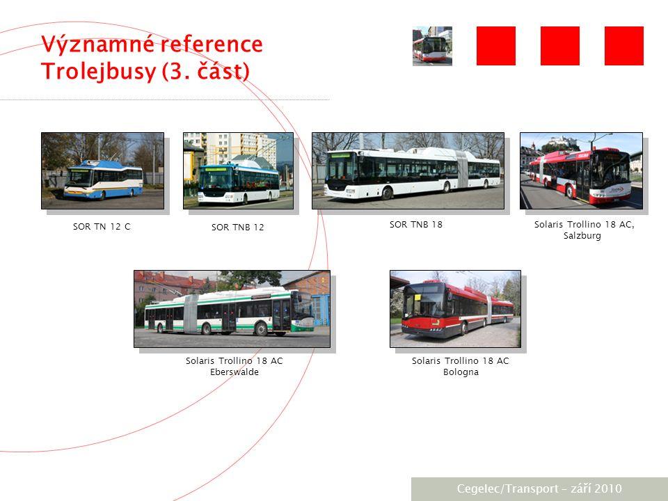 [City / Unit] – [date] 2005 Významné reference Trolejbusy (3.