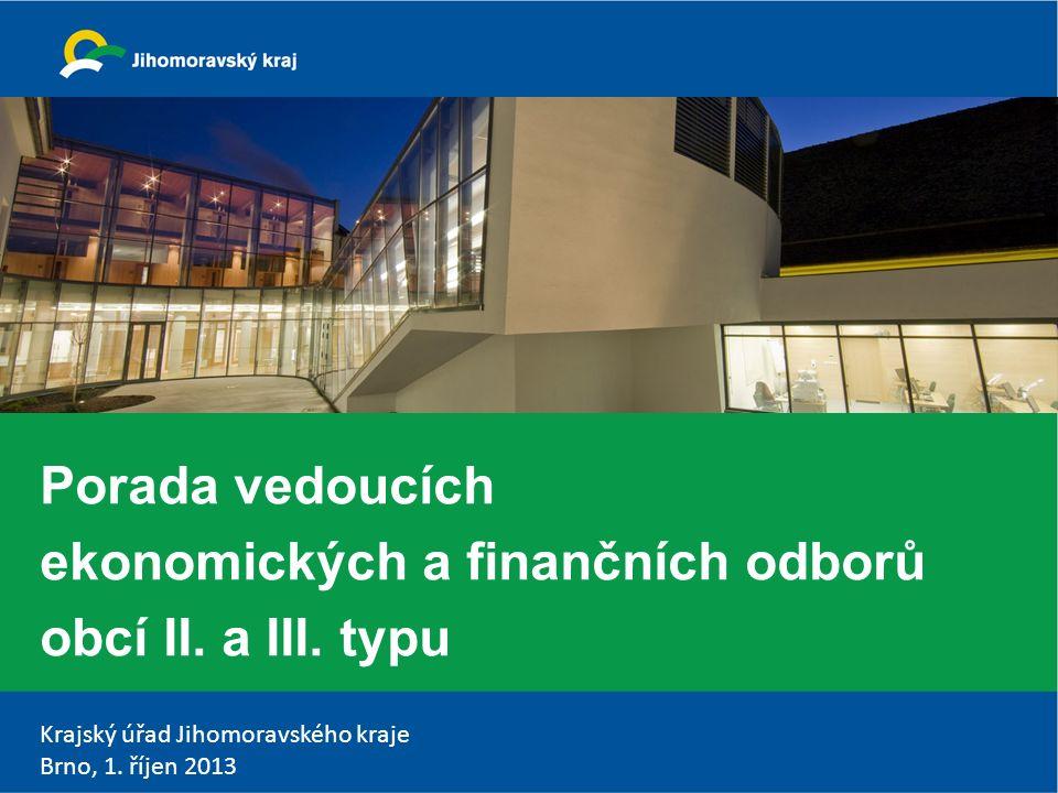Krajský úřad Jihomoravského kraje Brno, 1.říjen 2013 Program 1.Zahájení Ing.
