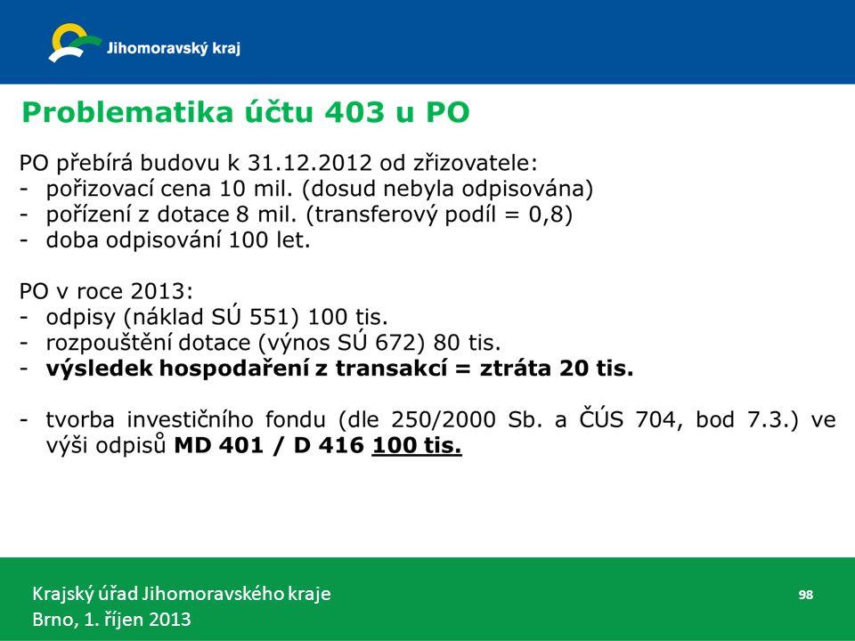 Krajský úřad Jihomoravského kraje Brno, 1. říjen 2013 98