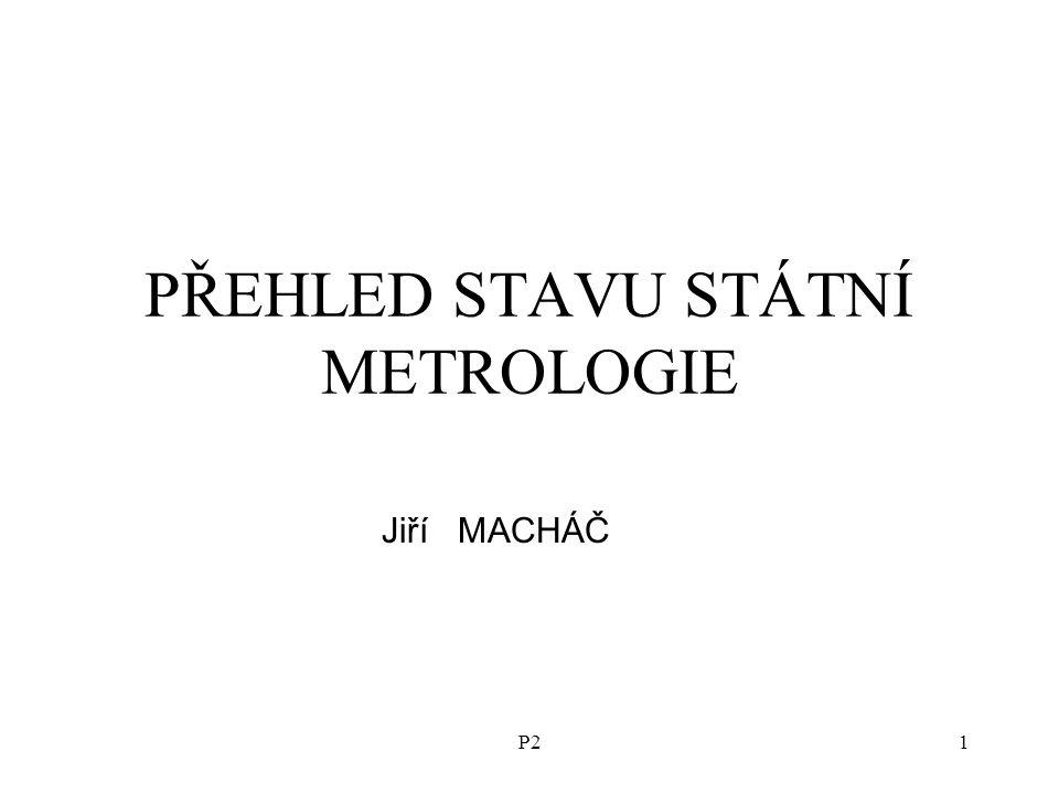 P21 PŘEHLED STAVU STÁTNÍ METROLOGIE Jiří MACHÁČ