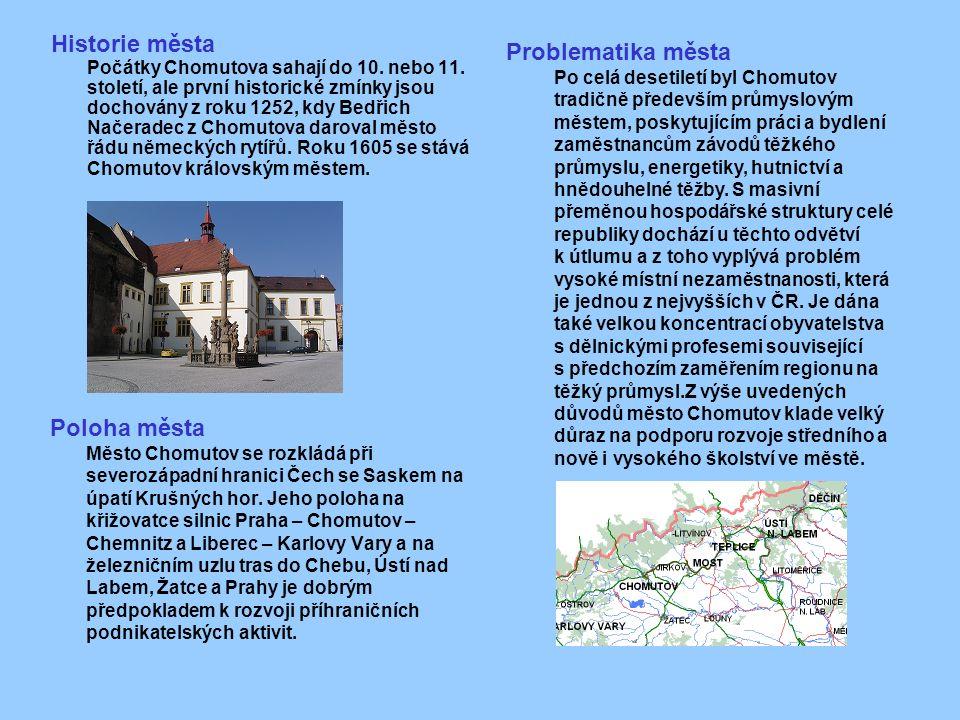 Historie města Počátky Chomutova sahají do 10. nebo 11.