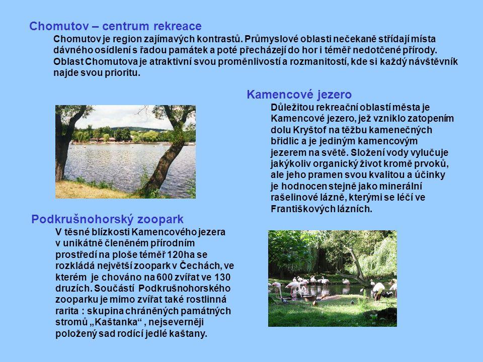 Chomutov – centrum rekreace Chomutov je region zajímavých kontrastů.