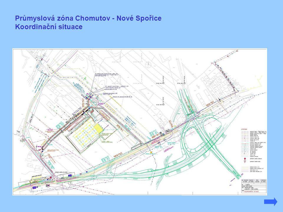 Průmyslová zóna Chomutov - Nové Spořice Koordinační situace