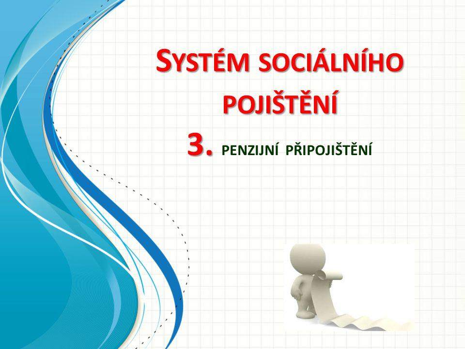 S YSTÉM SOCIÁLNÍHO POJIŠTĚNÍ 3. S YSTÉM SOCIÁLNÍHO POJIŠTĚNÍ 3. PENZIJNÍ PŘIPOJIŠTĚNÍ