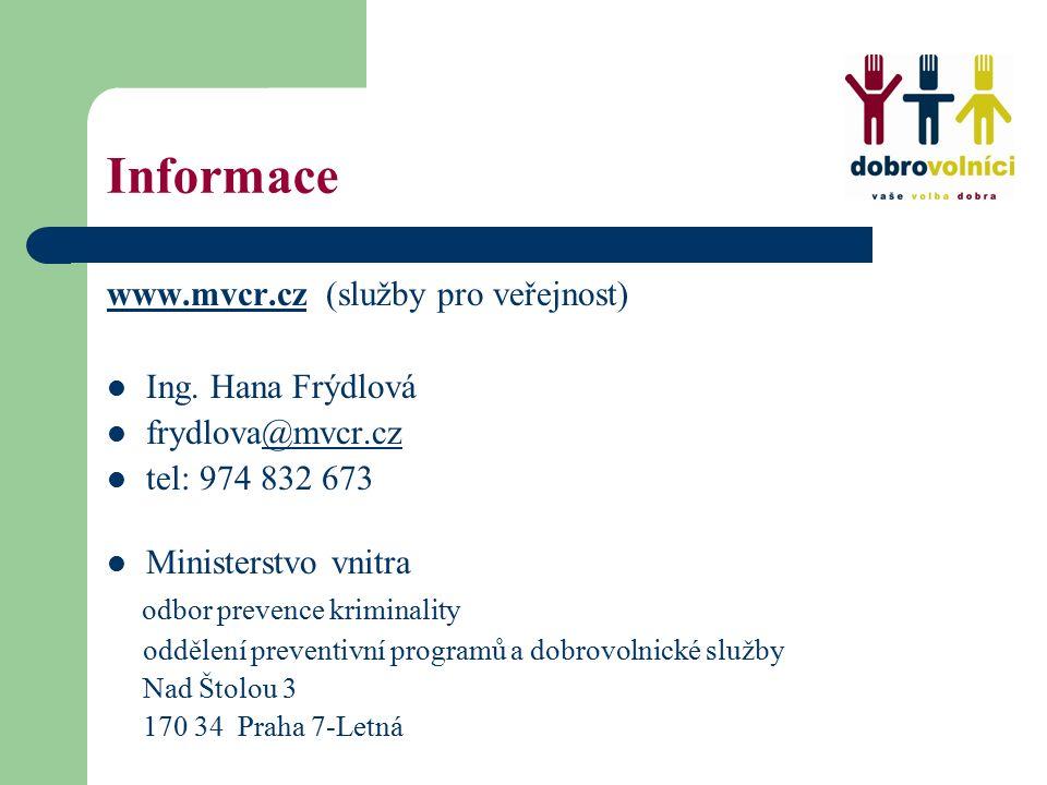 Informace www.mvcr.czwww.mvcr.cz (služby pro veřejnost) Ing.