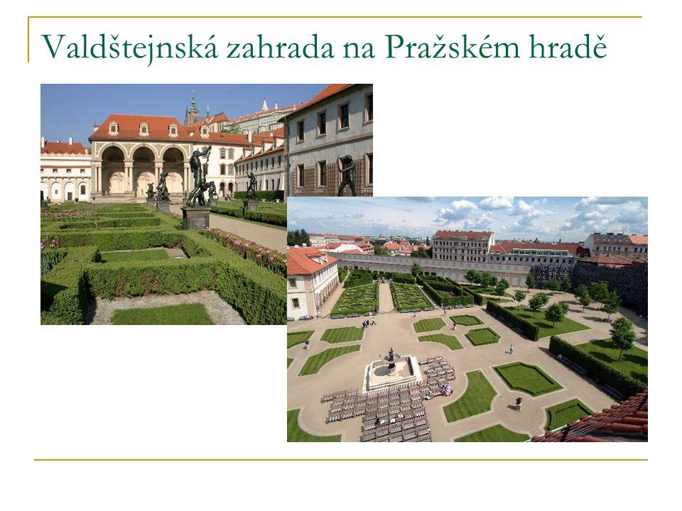 Valdštejnská zahrada na Pražském hradě