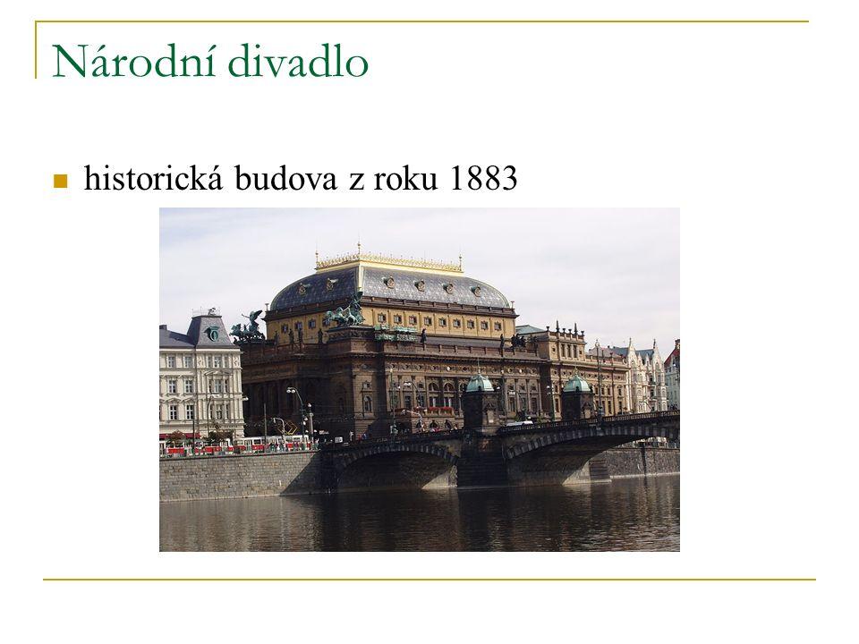 Národní divadlo historická budova z roku 1883