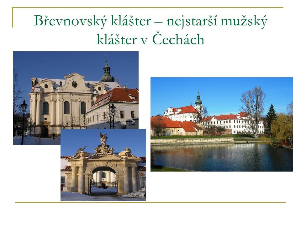 Břevnovský klášter – nejstarší mužský klášter v Čechách