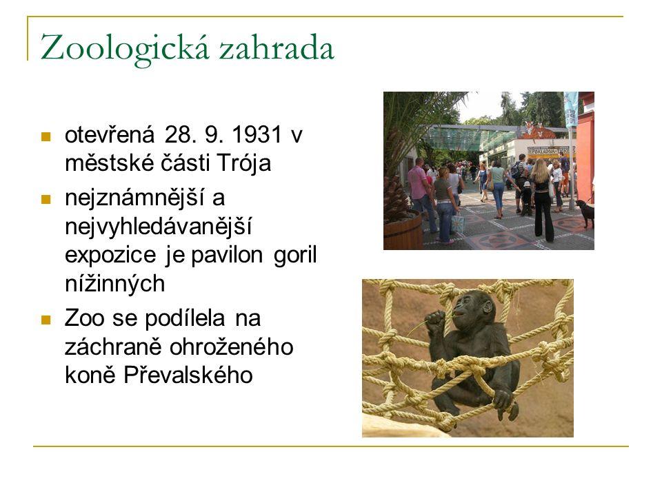 Zoologická zahrada otevřená 28. 9.