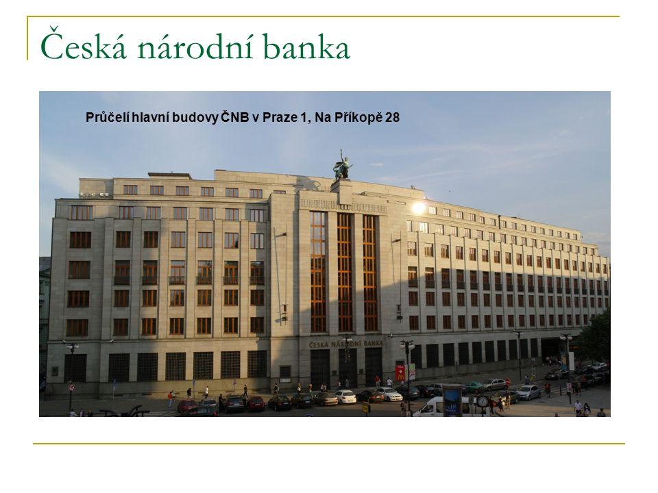 Česká národní banka Průčelí hlavní budovy ČNB v Praze 1, Na Příkopě 28