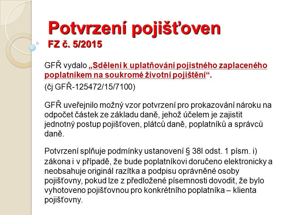 Potvrzení pojišťoven FZ č.