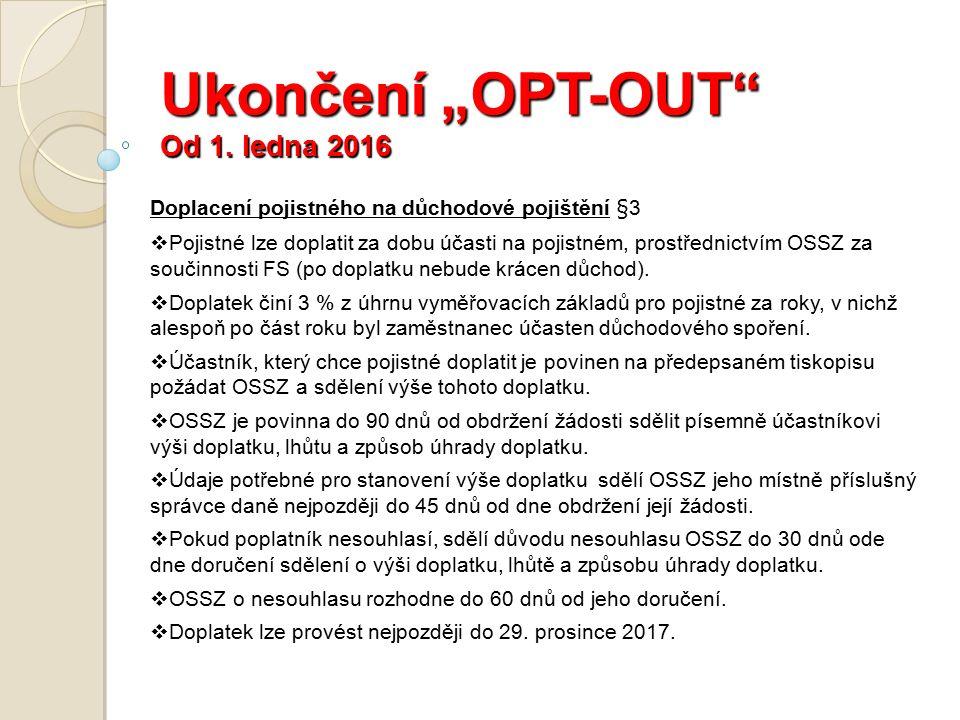 """Ukončení """"OPT-OUT Od 1."""