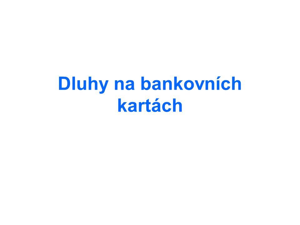 Dluhy na bankovních kartách