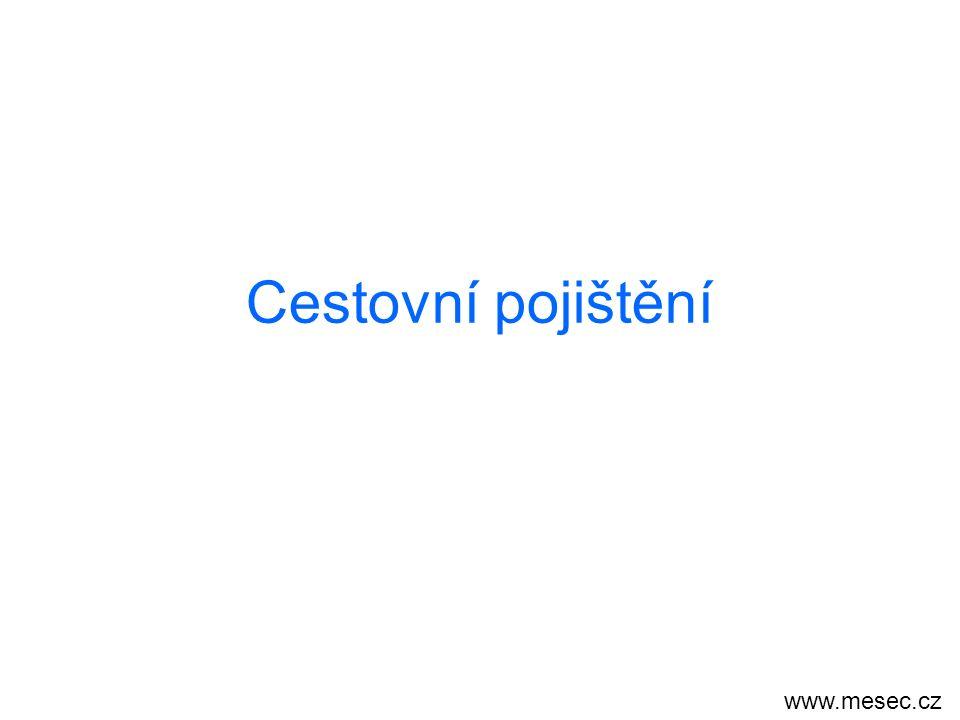Cestovní pojištění www.mesec.cz