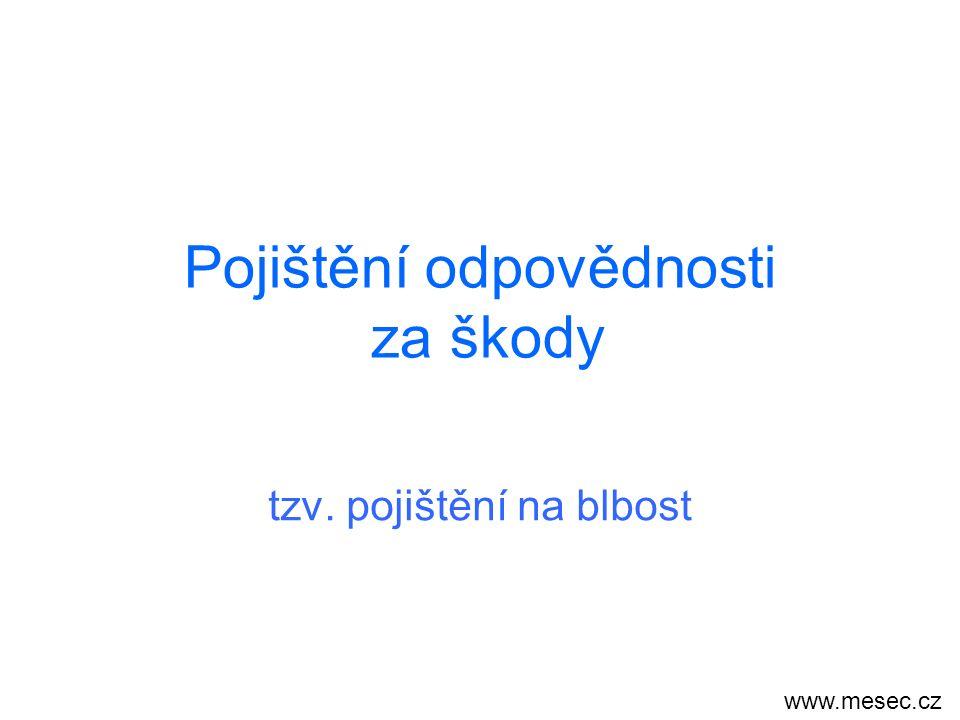 Pojištění odpovědnosti za škody tzv. pojištění na blbost www.mesec.cz