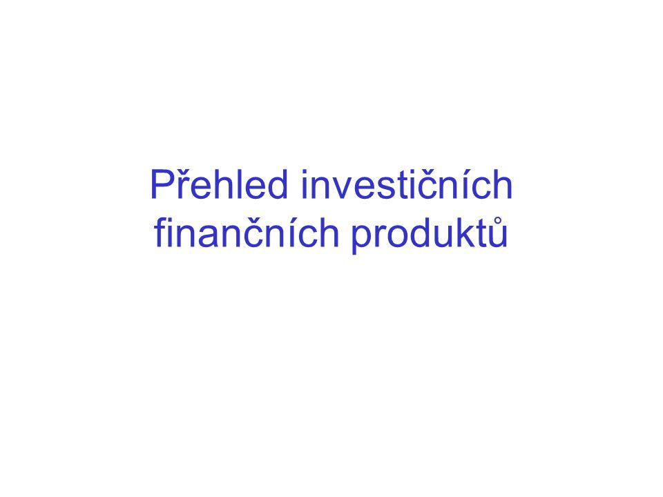 Přehled investičních finančních produktů