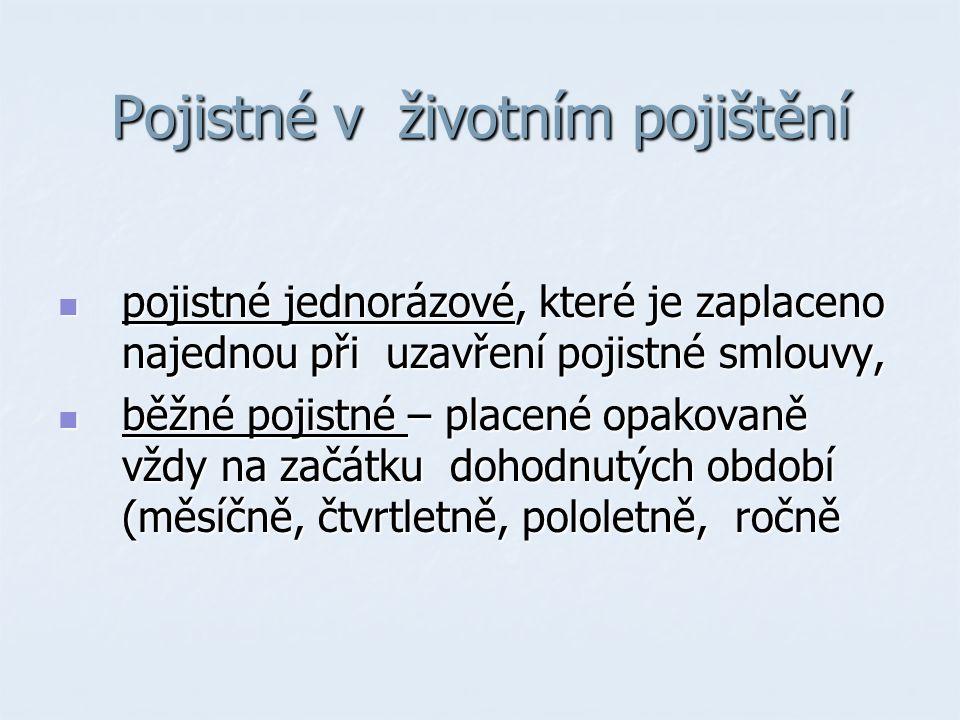 Situace na trhu Slavia pojišťovna Slavia pojišťovna Česká podnikatelská pojišťovna Česká podnikatelská pojišťovna