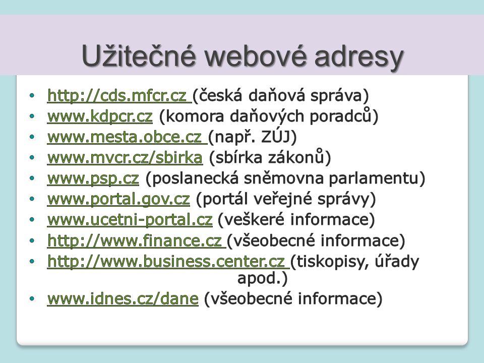 Užitečné webové adresy