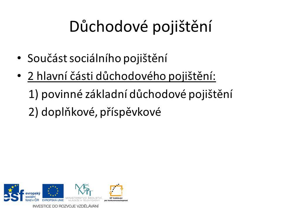 Důchodové pojištění II.Zákon č. 220/2011 Sb.
