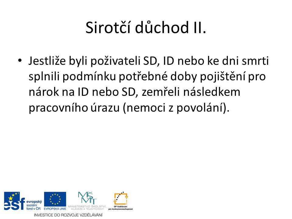 Sirotčí důchod II.