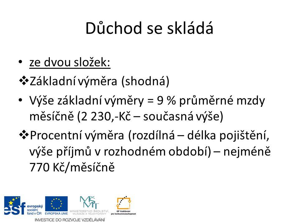 Důchodová reforma Každý má právo podle Ústavy ČR na důstojné a přiměřené zabezpečení ve stáří.