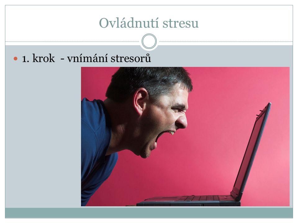 Ovládnutí stresu 1. krok - vnímání stresorů