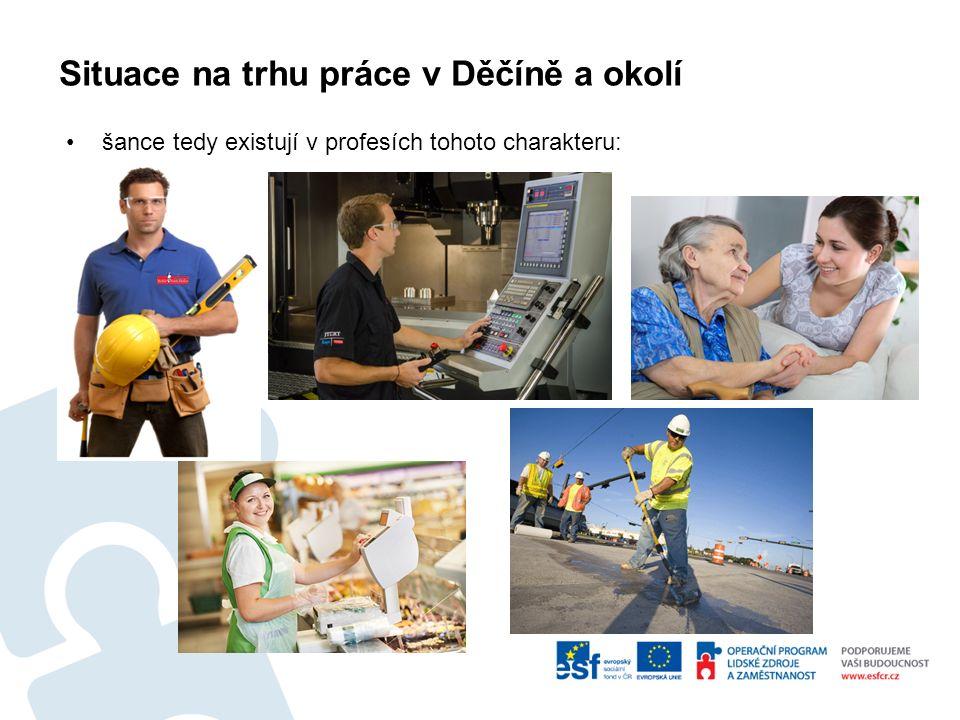 Situace na trhu práce v Děčíně a okolí šance tedy existují v profesích tohoto charakteru: