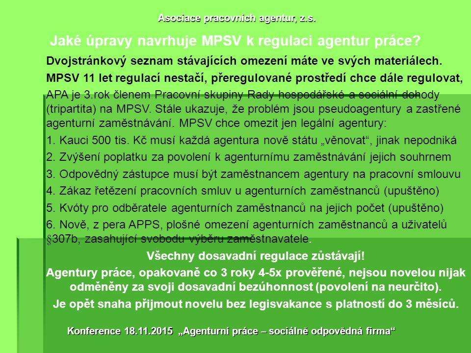Jaké úpravy navrhuje APA k vyčištění trhu.