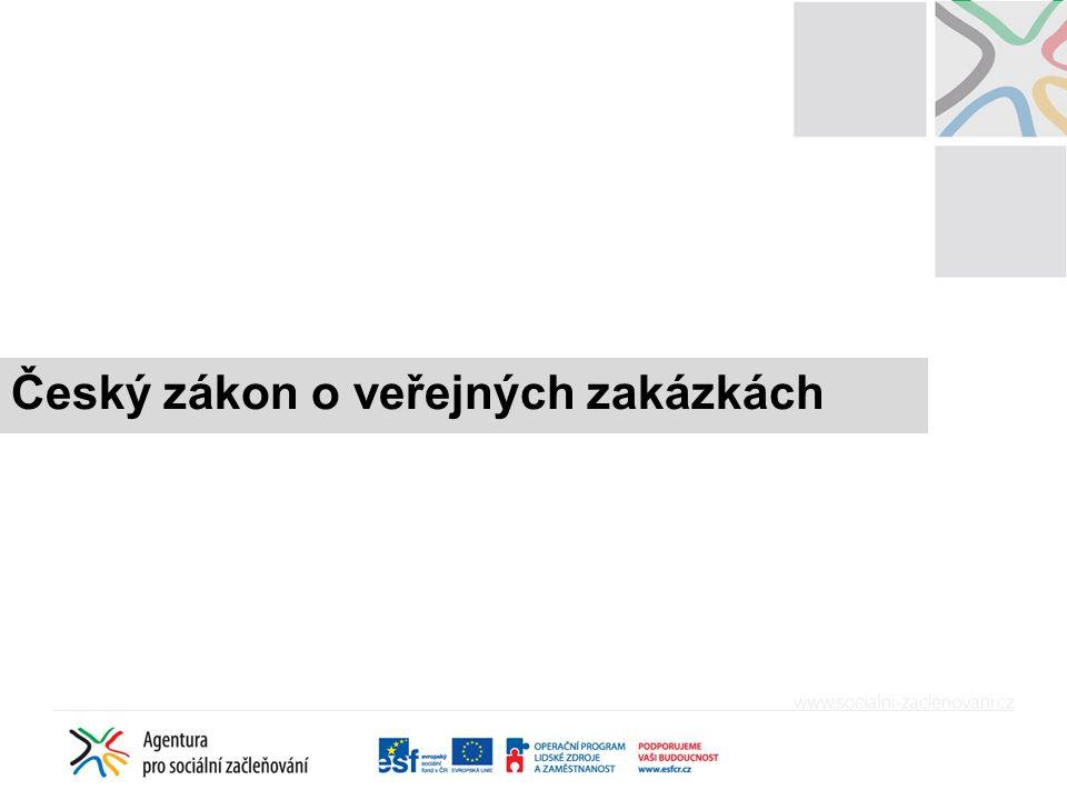 Český zákon o veřejných zakázkách