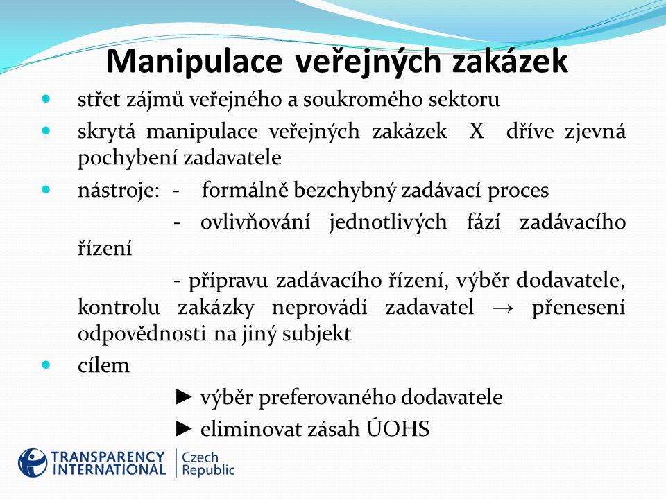 Doporučení TIC jasná pravidla zadávání veřejných zakázek – včetně zakázek malého rozsahu otevřený přístup k údajům o výběrových řízeních – minimum neveřejných informací → veřejná kontrola personální oddělení jednotlivých fází veřejné zakázky (zvýšené riziko manipulace soutěže při shodném obsazení ve všech fázích) → rozdělení odpovědnosti klíčová je dohledatelná osobní odpovědnost zainteresovaných lidí – jednoznačně vymezené kompetence, odpovědnost → sankce