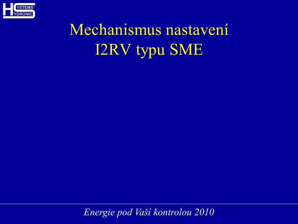 Energie pod Vaší kontrolou 2010 Mechanismus nastavení I2RV typu SME