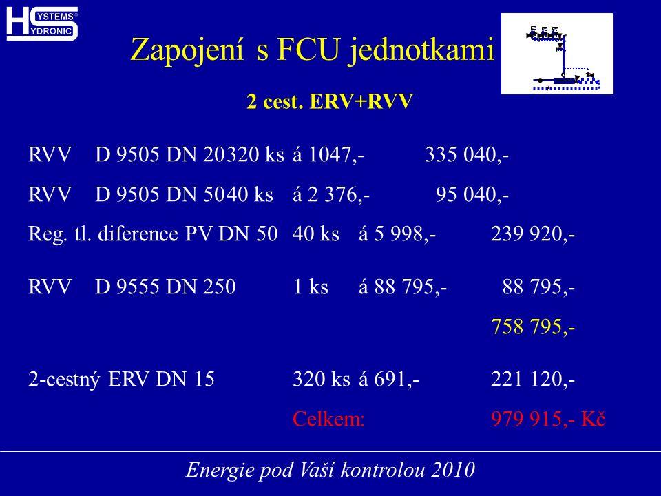 Energie pod Vaší kontrolou 2010 FCUFCU FCUFCU FCUFCU Zapojení s FCU jednotkami 2 cest.