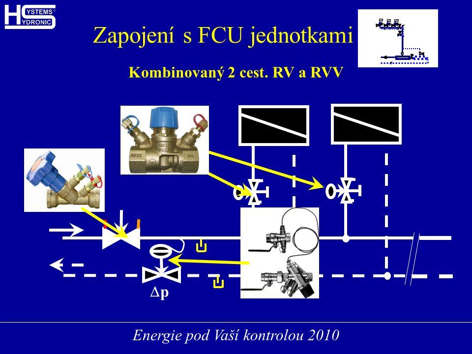 Energie pod Vaší kontrolou 2010 FCUFCU FCUFCU FCUFCU Zapojení s FCU jednotkami Kombinovaný 2 cest.