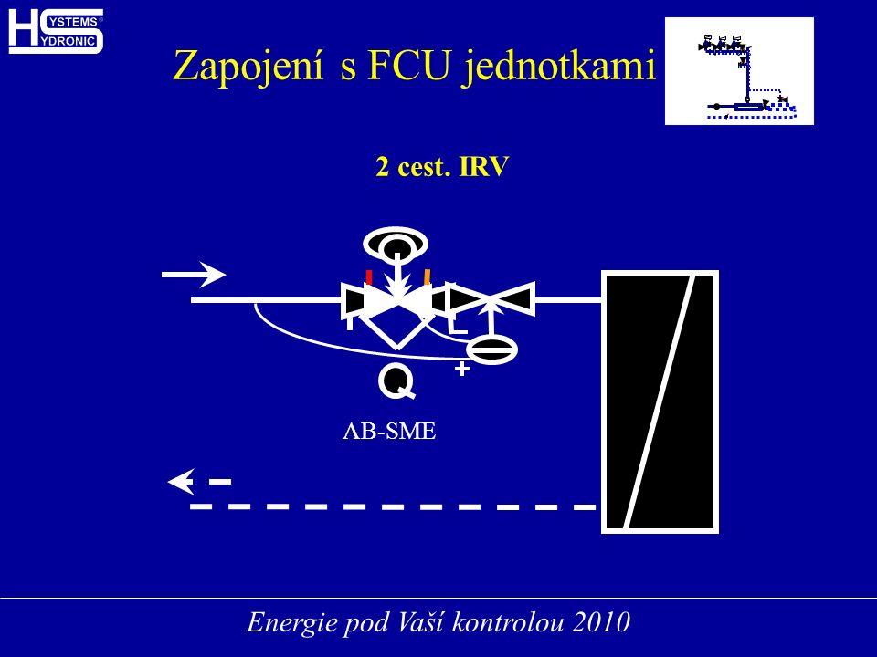 Energie pod Vaší kontrolou 2010 FCUFCU FCUFCU FCUFCU Zapojení s FCU jednotkami 2 cest. IRV AB-SME
