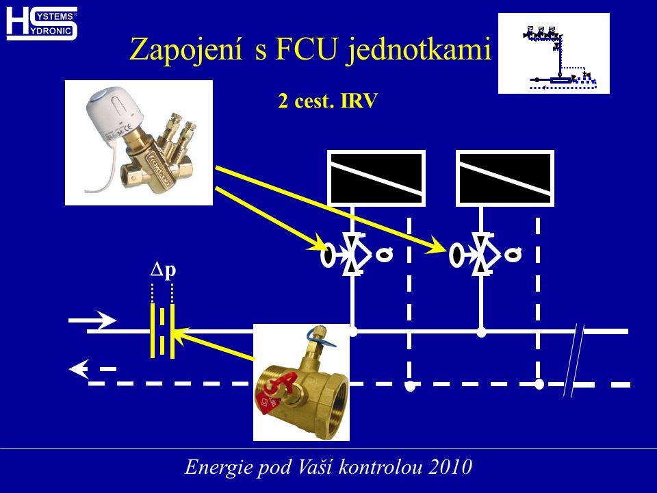 Energie pod Vaší kontrolou 2010 FCUFCU FCUFCU FCUFCU Zapojení s FCU jednotkami 2 cest. IRV pp