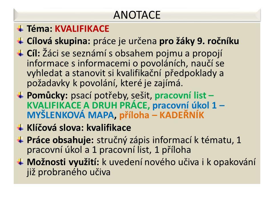 PILOTÁŽ (doporučení – upozornění – zpětná vazba) Materiál byl použit ve 4 třídách 9.
