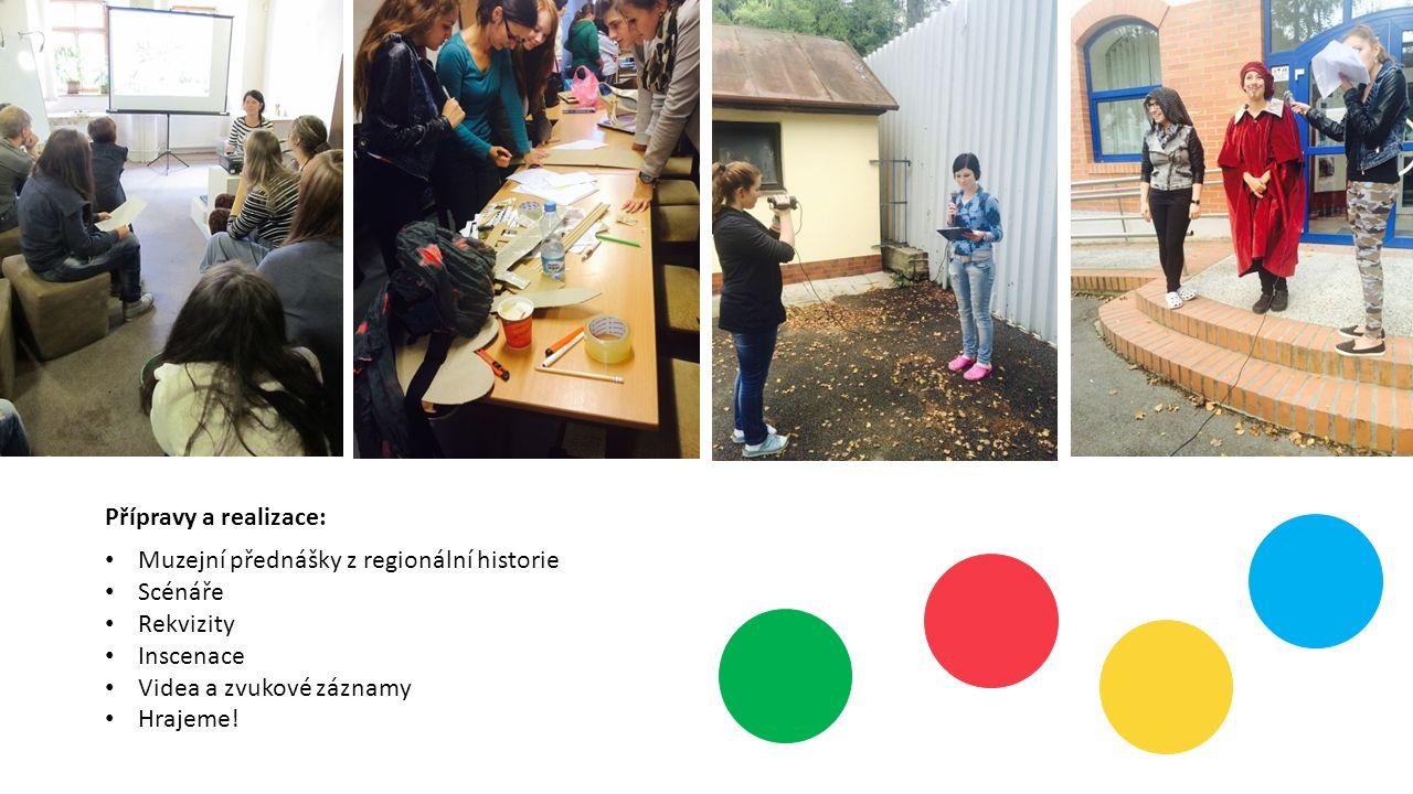 Přípravy a realizace: Muzejní přednášky z regionální historie Scénáře Rekvizity Inscenace Videa a zvukové záznamy Hrajeme!