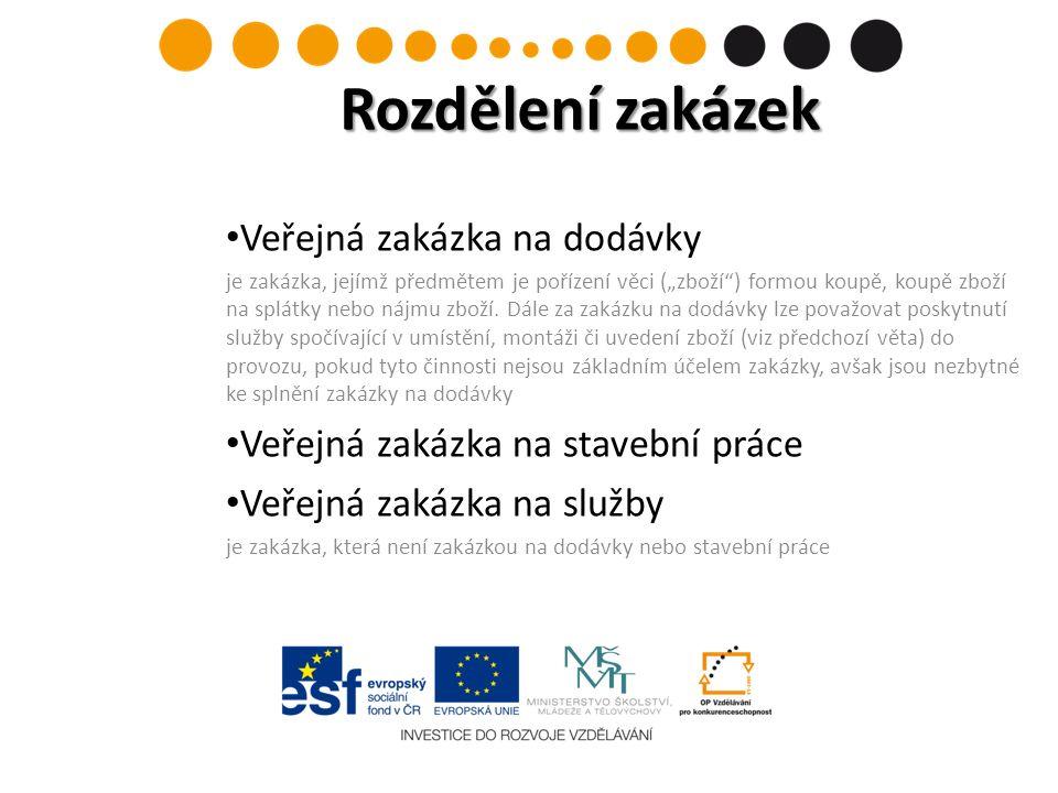 Obecné zásady obsažené ve smlouvě o založení ES Volný pohyb zboží a služeb, právo usazování, rovné zacházení, zákaz diskriminace, transparentnost, proporcionalita, vzájemné uznávání osvědčení § 6 zákona Transparentnost, rovné zacházení, zákaz diskriminace Ostatní Vnitřní předpisy příjemců Obecné zásady pro zadávání VZ