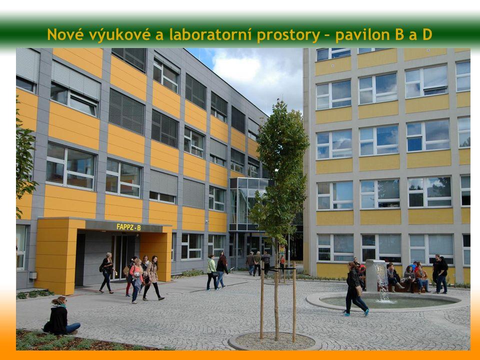 Nové výukové a laboratorní prostory – pavilon B a D