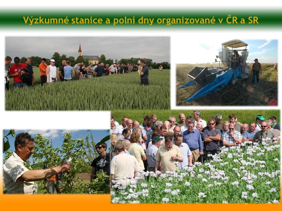 Výzkumné stanice a polní dny organizované v ČR a SR