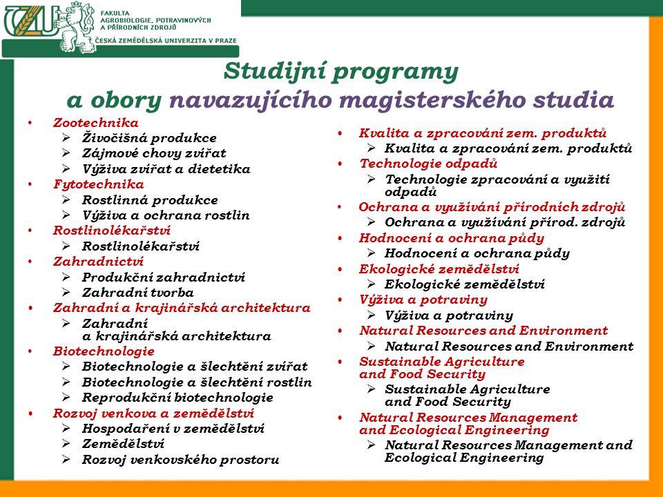 Zootechnika  Živočišná produkce  Zájmové chovy zvířat  Výživa zvířat a dietetika Fytotechnika  Rostlinná produkce  Výživa a ochrana rostlin Rostl
