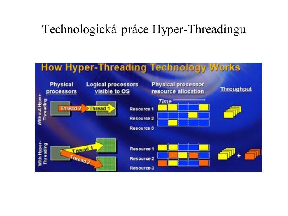"""Oba procesory mají technologii SpeedStep umožňující snížení hluku a spotřeby počítače, technologii Execute Disable Bit umožňující zabezpečení systému proti """"útokům na přetečení bufferu a technologii Intel Extended Memory 64 umožňující použití většího objemu operační paměti pro aplikace, které to využijí."""