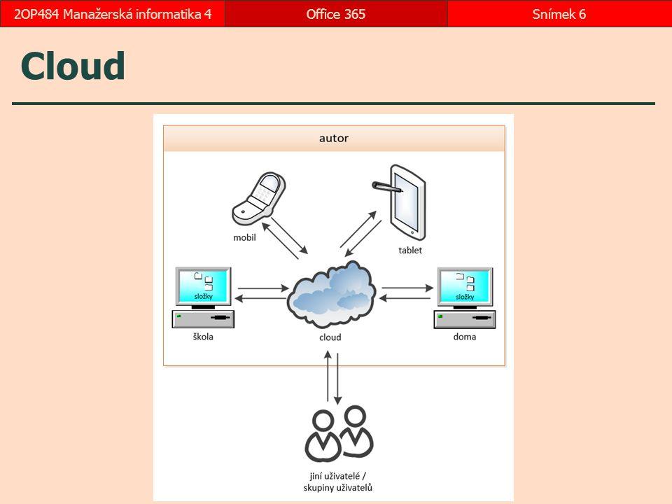 Cloud Office 365Snímek 62OP484 Manažerská informatika 4